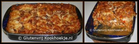 lasagne met zoete aardappelen en mozzarella